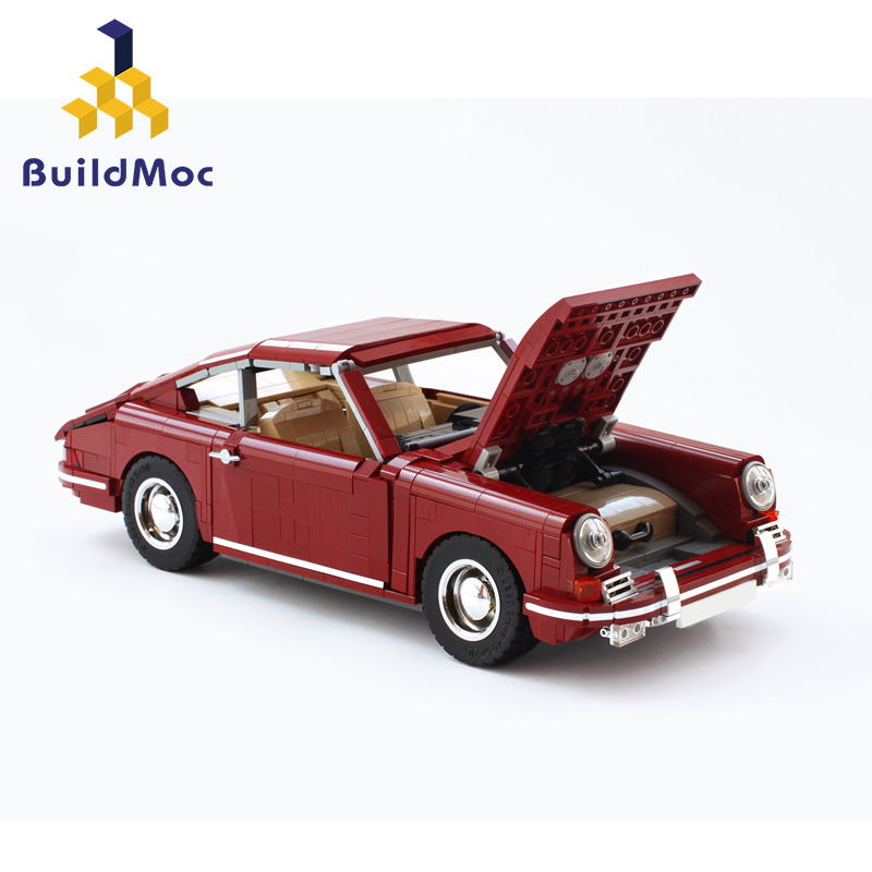 BuildMoc Supercar Racers Scale Famous brand classic Sports Car fit 42056 <font><b>Technic</b></font> Vehicles Building Blocks Bricks Toys gift image