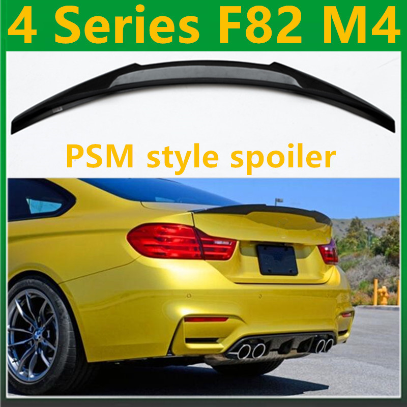 F82 M4 Quality Carbon Fiber <font><b>Spoiler</b></font> Gloss Black M4 Look Rear Trunk Lip Back <font><b>Spoiler</b></font> Wing For BMW 4 Series 2 - Door Coupe 2014 + image