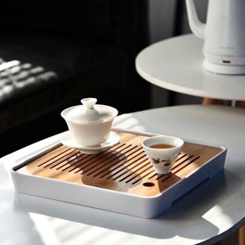 China Pu'er Tea Bamboo Tray Tea Tray Drainage Water Storage Table Kungfu Tea Ceremony Board Service Tray TeaAccessories