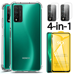 Honor 10X lite Camera Film, Anti-shock Clear 10Xlite TPU Case Huawei Honor 10 X lite Soft Silicone Cover Honor 10X life Case