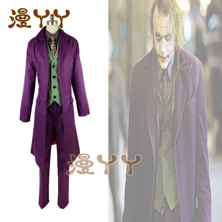 Image 4 - Cosplay Batman The Dark Knight Joker Cosplay Suit Full Set  Outfits Mens Halloween Costumes Fancy DressMovie