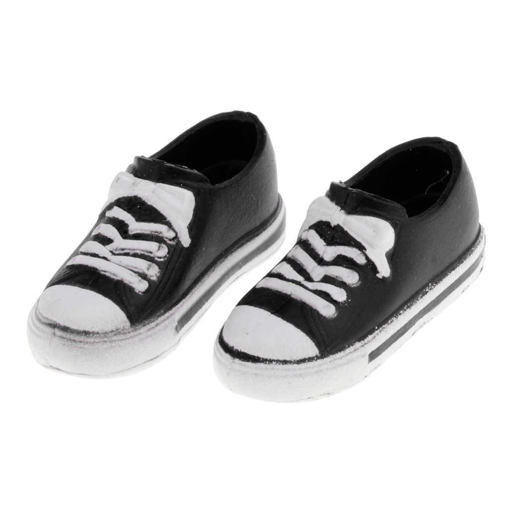 Trendi Boneka Kanvas Sepatu 1/6 BJD 12Inch Karet Sepatu DIY Dress-Up Pakaian