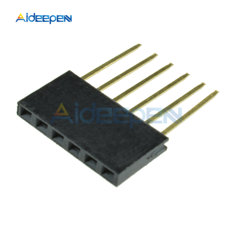 10Pcs/lot 2.5mm 6Pin 8Pin 10Pin Single Row Female Long Pins 11mm Breakaway PCB Board Pin Header Socket Connector For Arduino