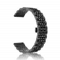 Для samsung galaxy watch active 20 мм Твердый металлический браслет из нержавеющей стали ремешок для galaxy watch active 2 40 мм 44 мм