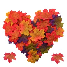 50PCS/Set DIY Artificial Autumn Maple Leaves For Thanksgiving Day Halloween Holiday Decoration CM