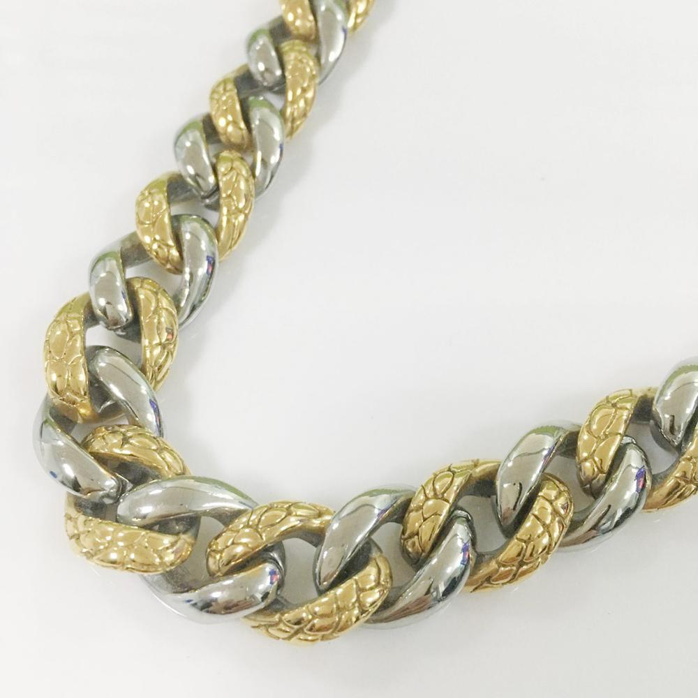Heavy Huge 15mm Silver Gold Tone Cuban Curb Link Chain Stainless Steel Necklace Bracelet Biker Mens Gift 7 40 inch Custom Size in Chain Necklaces from Jewelry Accessories