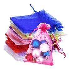 50 шт., 7x9, 9x12, 10x15, 13x18 см, органза, марлевые элементы, сумки для ювелирных изделий, упаковка, сумки из органзы, свадебный подарок, сумки из органзы, тюль, ткань 5z