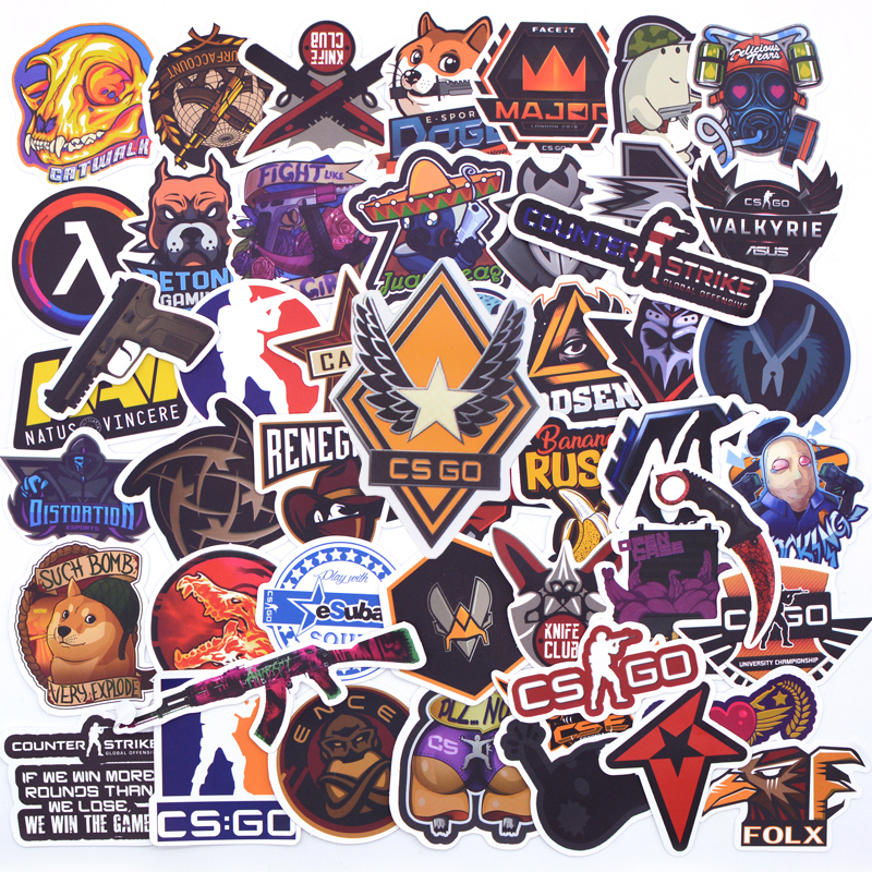 50PCS New Game Navi CS GO Stickers Counter-Strike CSGO For Laptop Guitar Phone Motorcycle