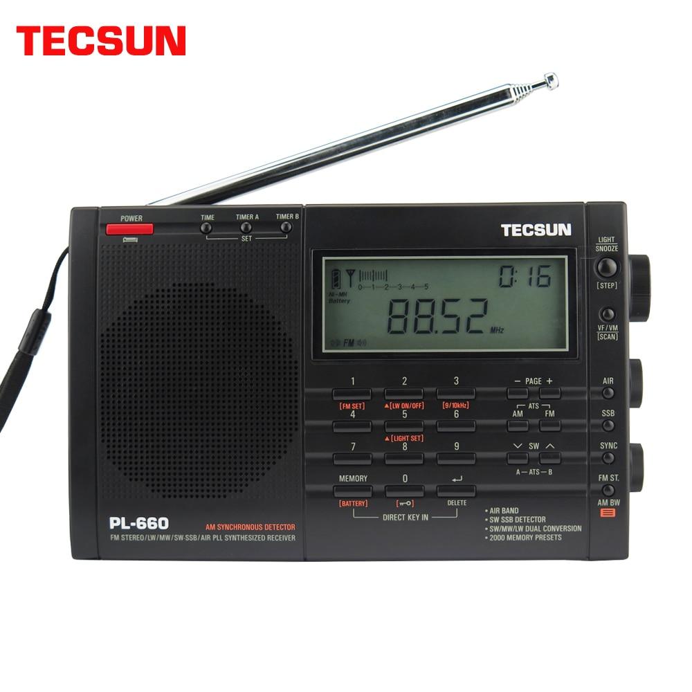 Tecsun PL-660 rádio pll ssb vhf faixa de ar receptor de rádio fm/mw/sw/lw rádio multibanda dupla conversão internet rádio portátil