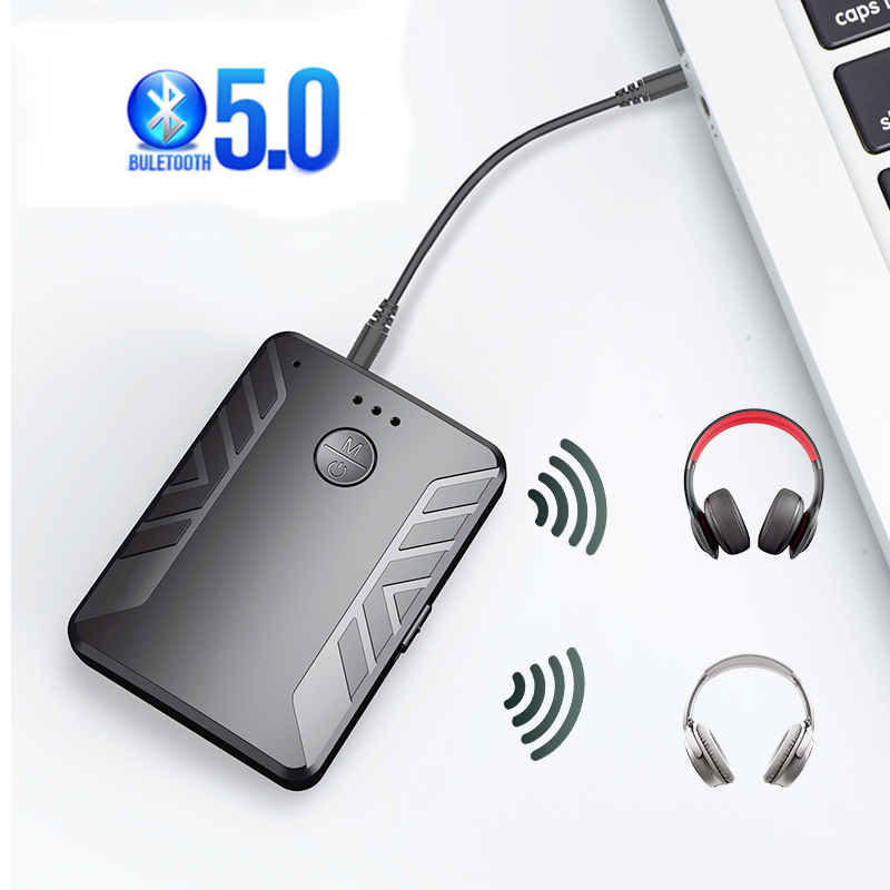 Wireless bluetooth adapter 5 0 can connect two bluetooth earphones home and car bluetooth receiver transmitter at the same time