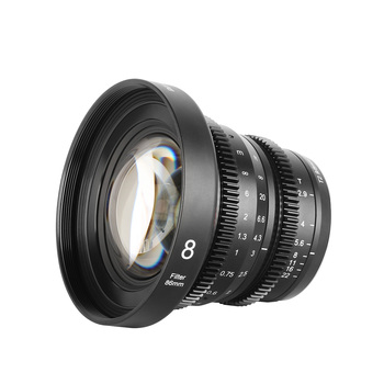 Obiektyw Meike Cine 8mm T2 9 dla mikro cztery trzecie (MFT M4 3) zamontować aparaty Olympus Panasonic tanie i dobre opinie MEKE CN (pochodzenie) Obiektyw szerokokątny Stałej ogniskowej obiektywu NONE Kamery