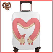 Corgi Heart 2020 new funny diy design travel accessories Protector Luggage Cover tag cute luggage kids luggage travel pouch(China)