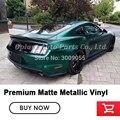 Высококачественное сырье обертывание матовая металлическая темно-изумрудно-зеленая металлическая виниловая оберточная пленка для автомо...