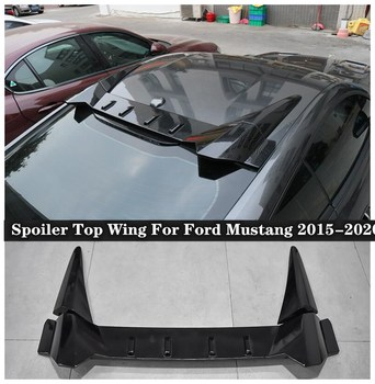 High Quality ABS & Carbon fiber Grain Rear Trunk Lip Spoiler Top Wing Fits For Ford Mustang 2015 2016 2017 2018 2019 2020 carbon fiber rear trunk wings m4 spoiler for bmw 4 series f36 420i 428i 435i gran coupe 4 door 2013 gloss black spoiler wing