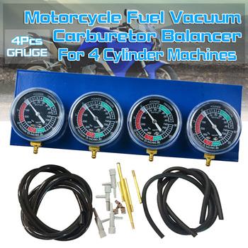 Motocykl paliwa gaźnika próżniowy synchronizator narzędzie Carb Sync Gauge 2 4 cylindrem na motocykl motocykl węglowodanów akcesoria tanie i dobre opinie oein CN (pochodzenie) Metal and Plastic 930g 1 x Fuel Vacuum Gauge Balancer 1 x Accessories