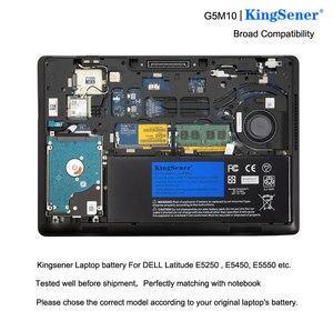 Image 5 - Kingsener bateria para laptop g5m10, bateria portátil para dell latitude e5250 e5450 e5550/2/1ky05/7.4v/5wh, ferramenta grátis
