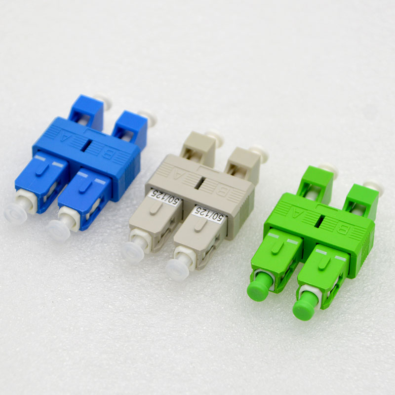 New Optical Fiber Adapter Connector SC Male LC Female Single  Multimode Double Core Fiber Flange Coupler Adapter Free Shipping|Connectors| |  -