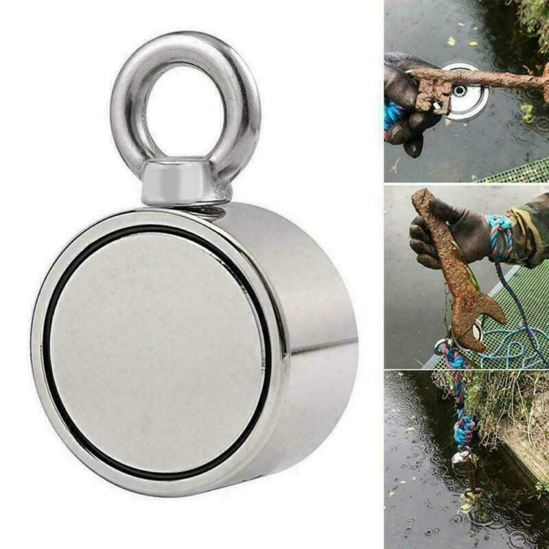 Neodymium Metal Magnet 200/300KG High Quality Durable Outdoor Camping Travel Fishing Equipments Double Side Fishing Magnet