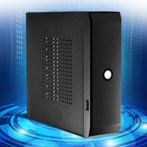 HTPC-fuente de alimentación práctica para el hogar y la Oficina caja de ordenador, USB 2,0, chasis de PC para juegos, FH01 Mini ITX
