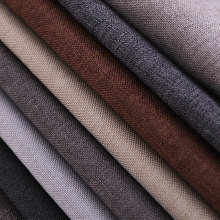 Solido Tessuto di lino Pianura Divano Materiale Tessuti Per Cucire Tovaglie e Fodere Per Cuscini