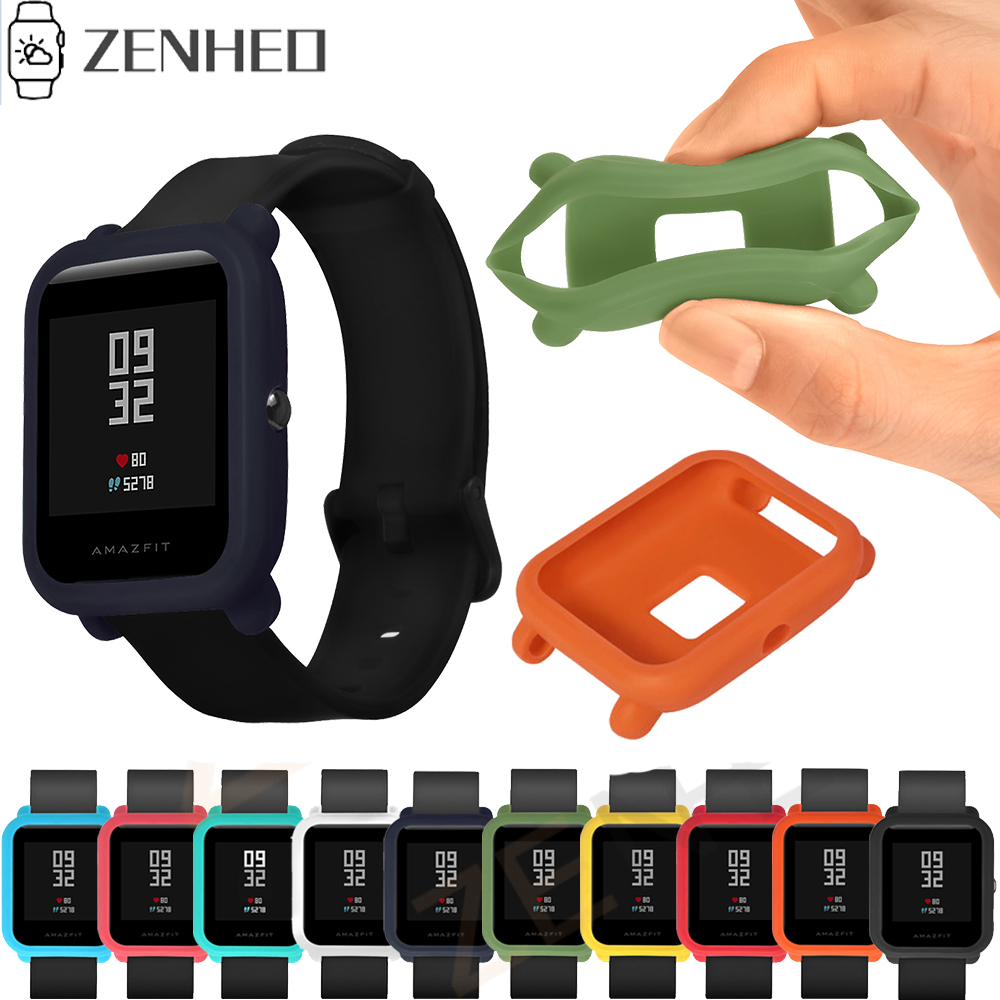 Protect Case for Xiaomi Huami <font><b>Amazfit</b></font> Bip <font><b>Bit</b></font> youth Watch Case Cover Protective Shell for <font><b>Amazfit</b></font> Smart Watch Accessories image