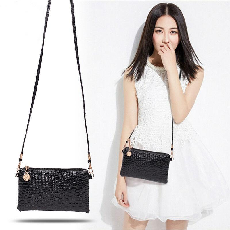 2020 New Women Litchi  Faux Leather Small Shoulder Bag Purse Handbag Chain Lady Black Crossbody Bags Messenger Bag Purse
