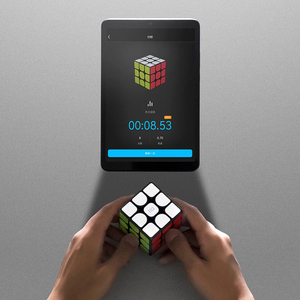 Image 2 - الأصلي Xiaomi مي الذكية المكعب السحري بلوتوث 3D ديناميكية التدريس ستة محور الاستشعار العمل مع Mijia التطبيق للعلوم التعليم لعبة
