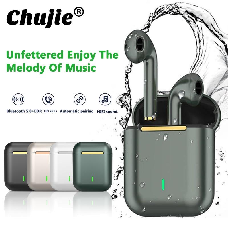 J18 TWS Bluetooth Headphones Music Earpiece Waterproof Touch Control Fidelity Sound For Iphone Huawei Xiaomi Wireless Earphones