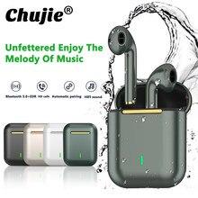J18 tws bluetooth fones de ouvido música controle toque à prova dwaterproof água fidelidade som para iphone huawei xiaomi sem fio