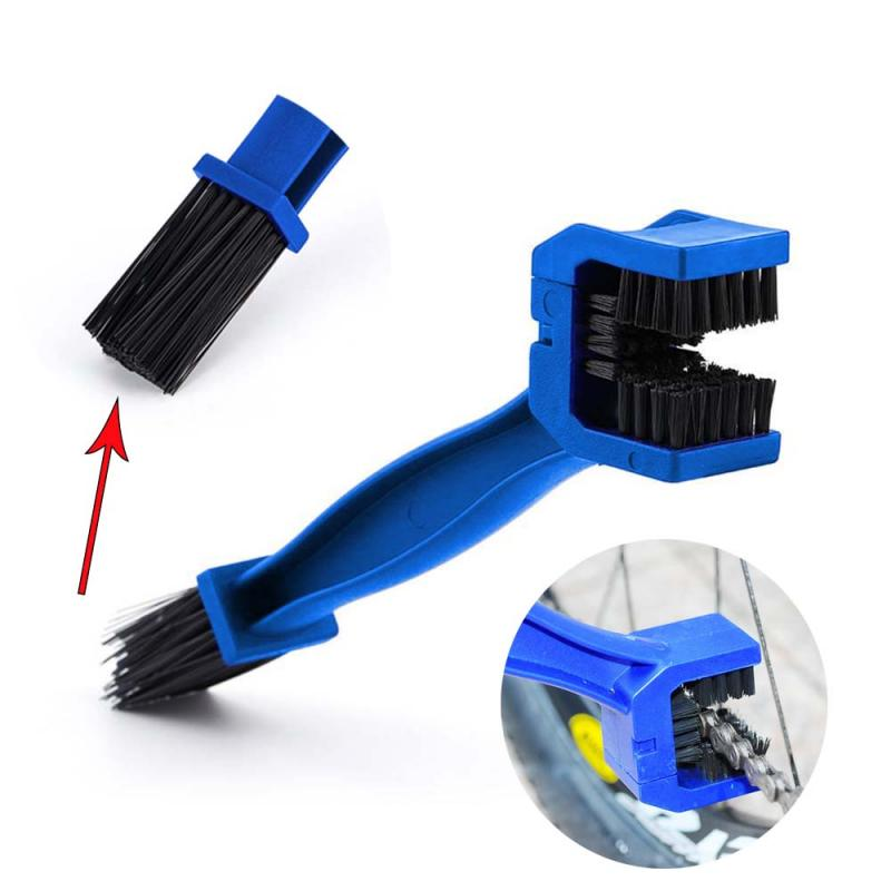 Motorcycle Chain Brush Cycling Bicycle Gear Grunge Brush Cleaner Remove Dirt Brush Outdoor Cleaner Scrubber Tool Motorcycle Tool