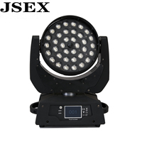 LED 36x18W RGBWA+UV Zoom Moving Head 5in1 Led Wash DMX512 Factory Directly Sale Dj Disco Stage Lighting Good For Party NightClub