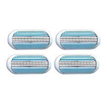 4 шт безопасные женские лезвия для бритвы бритья Сменная головка