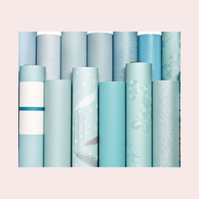 Blue Series Self-Adhesive Wallpaper Furniture Renovation Stickers Self-Adhesive Kitchen Waterproof Wallpaper Home Decoration
