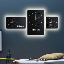 Modern Simple Clock LED Wall Lamp creative personality bedside bedroom decoration Nordic mural living room corridor wall Lights(China)