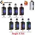Оригинальный GeekVape Aegis X 200 Вт комплект с 5,5 мл Cerberus бак и мощность с двойной 18650 Водонепроницаемый Ограниченная серия коробка мод