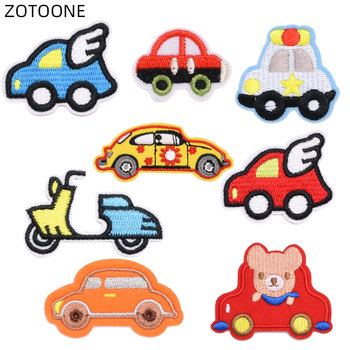ZOTOONE Cartoon Train Car Patches Iron on Badge DIY Embroidery Patches for Clothing Sewing Bicycle Stickers Cloth Applique H image