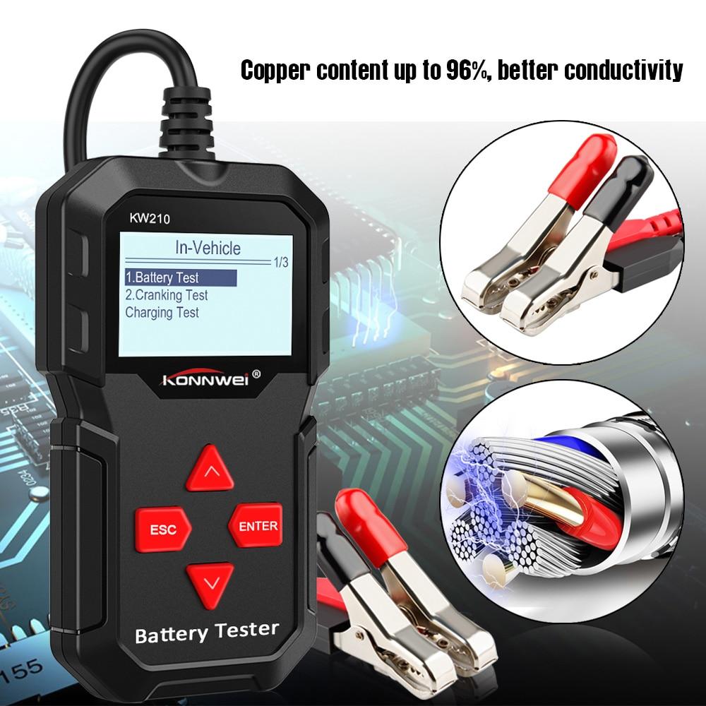 Image 3 - KONNWEI KW210 automatic smart 12V Car Battery Tester Auto Battery  Analyzer 100 to 2000CCA Cranking Car Battery TesterCar Battery Tester,  Charging