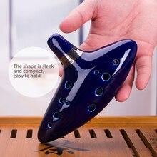 12 отверстий окарина керамический альт C Легенда о Zelda Окарина флейта синий окарина музыкальный инструмент портативный все в одном аксессуары