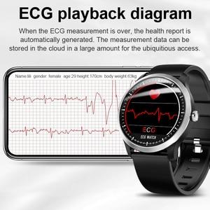 Image 5 - LIGE reloj inteligente deportivo de hombre, reloj inteligente deportivo con control del ritmo cardíaco y de la presión sanguínea, y pantalla OLED
