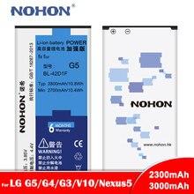 NOHON Li Ion Batteria Per LG Google Nexus 5 Nexus5 G5 G4 G3 V10 BL T9 BL 42D1F BL 51YF BL 53YH BL 45B1F di Ricambio Del Telefono bateria