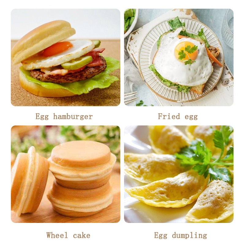 Image 5 - 4 hole Omelet Pan for Burger Eggs Ham PanCake Maker Frying Pans Creative Non stick No Oil smoke Breakfast Grill wok Cooking PotPans   -