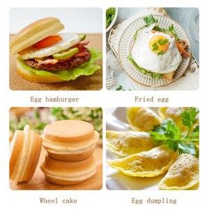 Image 5 - 4 חור חביתה פאן עבור בורגר ביצי חזיר פנקייק טיגון מחבתות יצירתי שאינו מקל לא שמן  עשן ארוחת בוקר גריל ווק בישול סיר