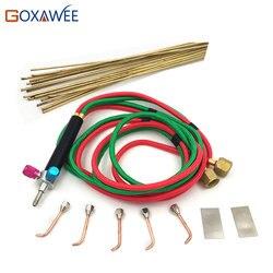 GOXAWEE شعلة لحام صغيرة للأكسجين والأسيتيلين مع 5 نصائح تستخدم في أدوات المجوهرات و أدوات طبيب الأسنان
