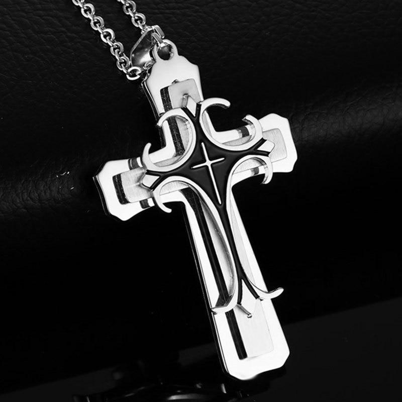 New Fashion Cross Pendant Necklace for Men 1