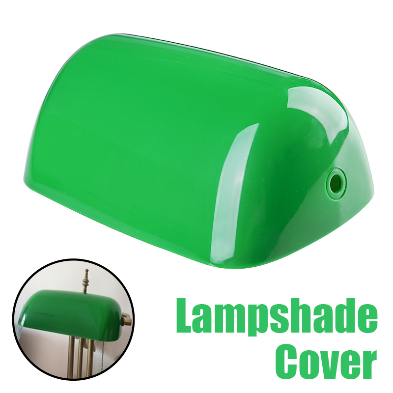 1pc Vintage Plastic Banker Lamp Cover Retro Green Bankers Lamp Shades Table Lamp Replacement 235mm Length