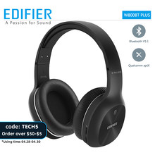 EDIFIER – écouteurs Bluetooth v5.1 W800BT PLUS, casque d'écoute sans fil, unité de pilotes 40mm, jusqu'à 55 heures, stéréo, prise en charge d'aptx