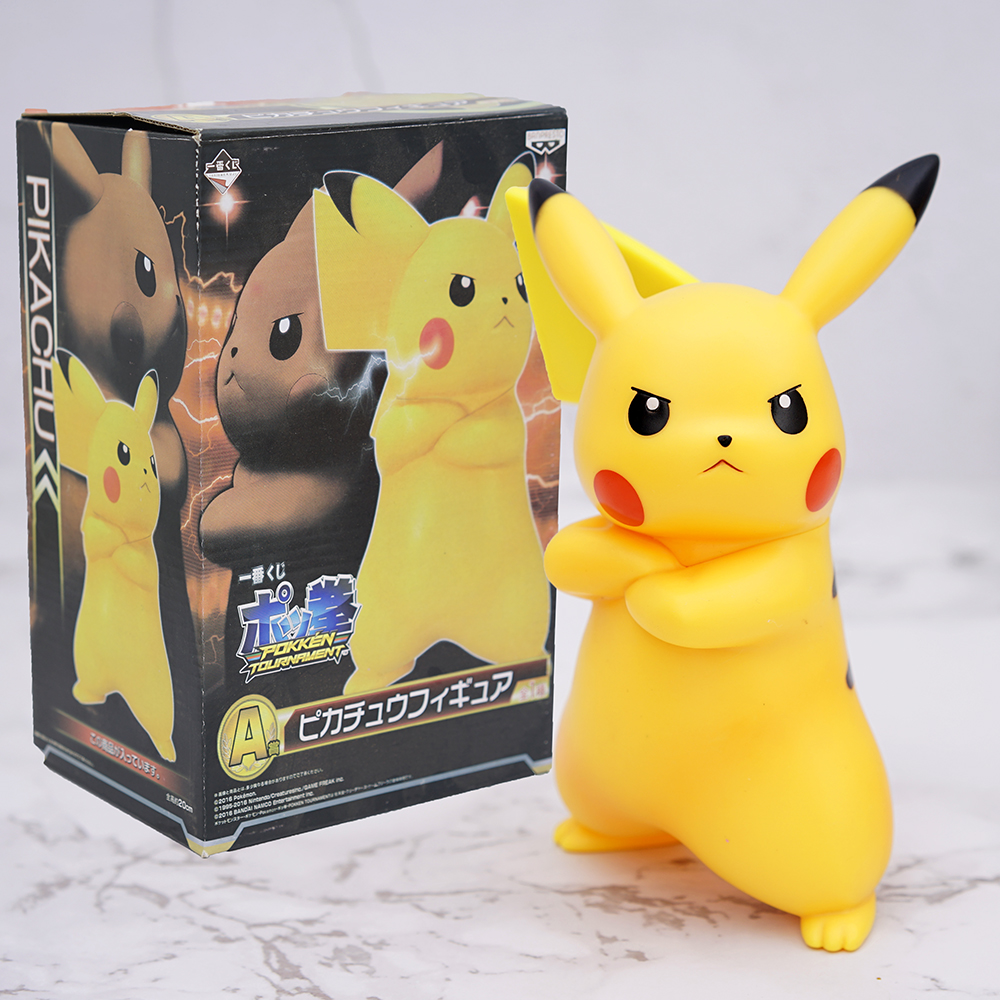 18cm Cute Angry Pikachu PVC Action Figure Anime Cartoon Pokemon Figurine Collection Model Kids Toys Christmas Birthday Gifts image