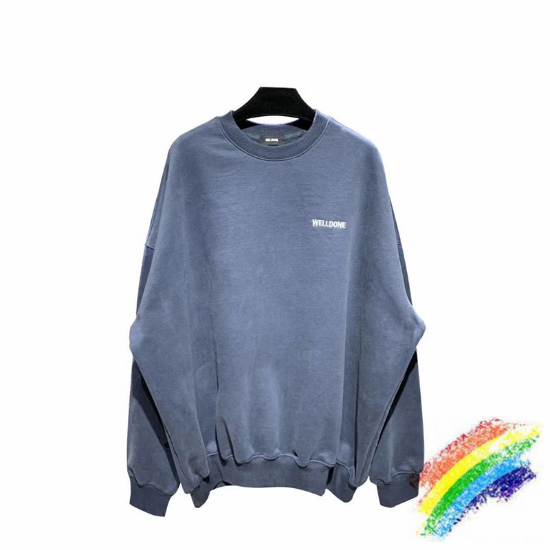 Embroidery WELLDONE Sweatshirts Men Women 1:1 High Quality Oversize Hoodie Hooded We11 Done WELL DONE Pullover
