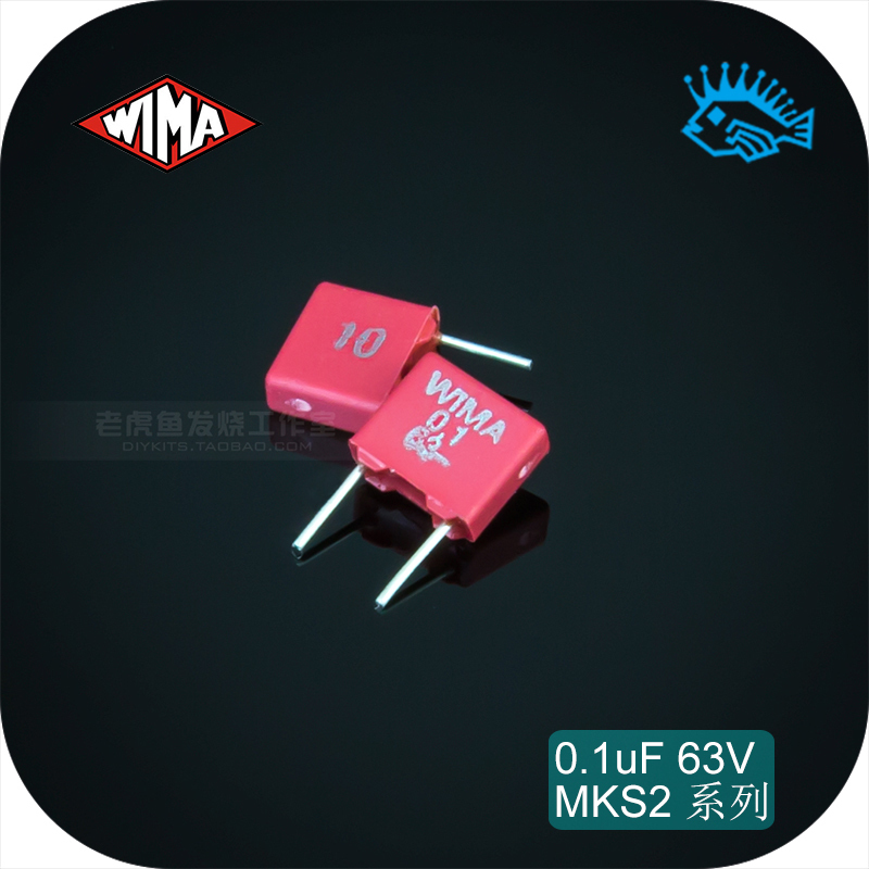 5pcs/50pcs 0.1uF MKS2 63V 104 100n Germany WIMA Thin Film Electrodeless Capacitor Pitch 5mm