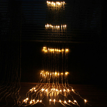 3X3M 320 LED Waterfall Meteor Shower Rain String Light Christmas Wedding Curtain Icicle Fairy Garland
